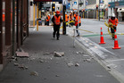Damage in Wellington from the earthquake that shook the Capital in July. Photo / Mark Mitchell