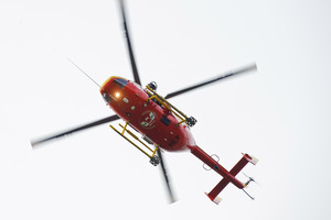 Westpac copter often attends remote fixtures. Photo / NZPA
