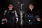 Dean Barker (L) and Jimmy Spithill. Photo / Gilles Martin-Raget