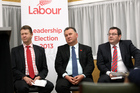 Labour party leadership candidates L-R David Cunliffe, Shane Jones, and Grant Robertson. Photo / Paul Taylor