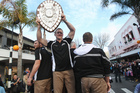 Hawkes Bay Magpies Ranfurly shield celebration parade in Napier.  Photo / Paul Taylor