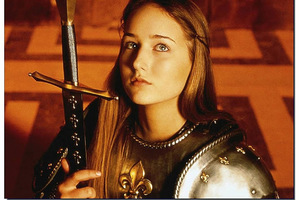 Leelee Sobieski played Joan of Arc, who was nearly Miley's age when she was burned at the stake.