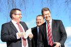 The three candidates for the Labour Leadership Grant Robertson, left, Shane Jones and David Cunnliffe. Photo / File
