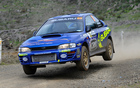 Taylor Bourne, son of Possum Bourne, drove his first competitive rally yesterday around Franklin and North Waikato. Photo / Geoff Ridder