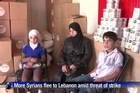 The looming threat of a US-led strike against Syria, punishment for the Assad regime's alleged use of chemical weapons, has sent scores of families fleeing across the border to Lebanon. Fadia, a mother of Syrian rebels who refused to leave her war-torn country until the last minute, is among the new comers in desperate need of aid.