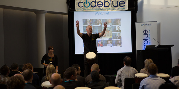 CodeBlue drum session.