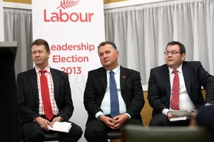 CANDIDATES: Labour Party leader candidates David Cunliffe, Shane Jones and Grant Robertson told party members and media why they should be the next elected party leader. PHOTO/PAUL TAYLOR