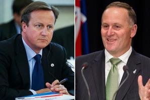 British Prime Minister David Cameron and New Zealand Prime Minister John Key. Photo / AP/Mark Mitchell