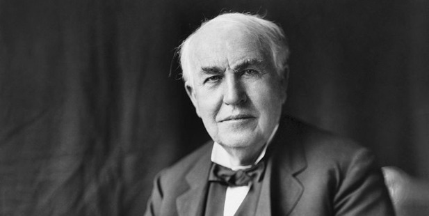 "Thomas Edison ""Opportunity is missed by most people because it is dressed in overalls and looks like work"". Photo / US Library of Congress"
