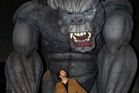 Colin Mathura-Jeffree is starstruck by King Kong, star of the Melbourne musical of the same name. Photo  / Elizabeth Xue Bai