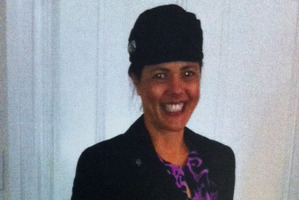 Glenys Stanton was pictured proudly wearing her Air New Zealand uniform on the service sheet for her funeral today.