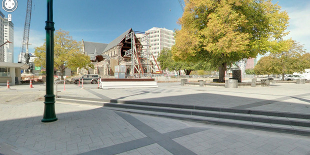Screen grab from Google Street View of Christchurch Cathedral.