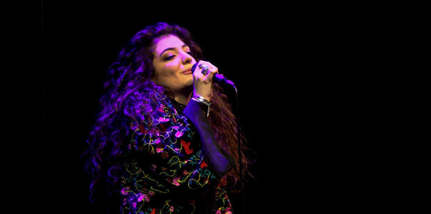 Lorde performs at the free iHeart Radio concert at Vector Arena on Saturday night. Photo / Chris Loufte