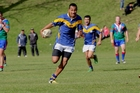Bay of Plenty player Pesini Tavake sprinting for the try line during last weekend's win against Coastlands. Photo / George Novak
