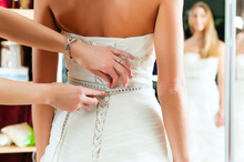 Women are opting for buying wedding dresses online and paying more for alternations.Photo / Thinkstock