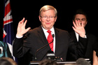 Australian Prime Minister Kevin Rudd admits defeat in the 2013 Australian Election. Photo / Getty Images
