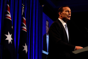 Australian Prime Minister-elect, Tony Abbott claims victory in the 2013 Australian Election. Photo / Getty Images