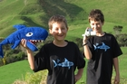 A video made by Kerikeri brothers Hector (8, writer/narrator) and Felix Danilo (11, cameraman/producer) is being used in a Greenpeace campaign against shark finning. Photo / Peter de Graaf