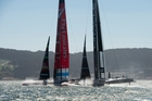 Oracle skipper Jimmy Spithill's reaction in Race 2 alarmed some observers. Photo / Chris Cameron
