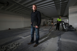 David Littlewood in the empty space that will soon become his new central Tauranga showroom.Photo/Joel Ford