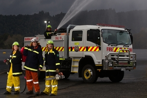 The Lake Okareka Volunteer Rural Fire Force is better prepared for an emergency with its new engine. Photo / Stephen Parker