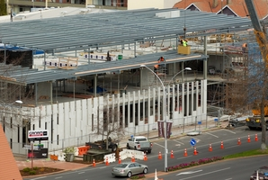 The new Rotorua police station is taking shape. Photo / Stephen Parker