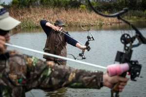 Auckland Council staff are keen to use bowhunters to help get rid of noxious carp in waterways. Photo / Brett Phibbs