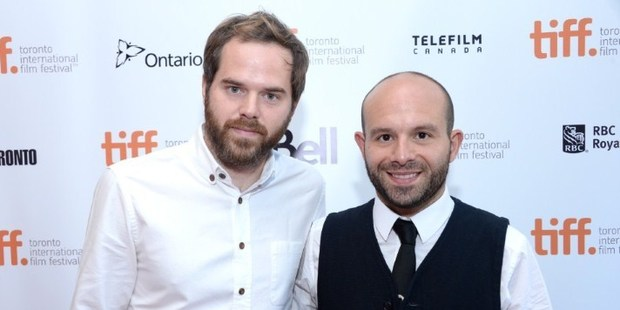 Director Sean Durkin and actor Anatol Yusef arrive at the 'Southcliffe' Premiere during the 2013 Toronto International Film Festival. Photo / AFP