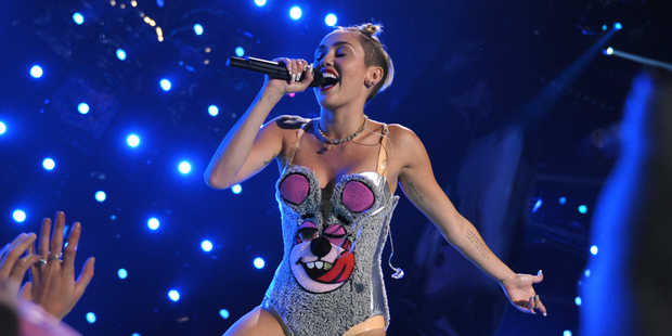 Miley Cyrus twerks her way through the MTV Video Music Awards. Photo / AP