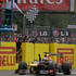 Red Bull driver Sebastian Vettel of Germany crosses the finish line to win the the Italian Grand Prix, at the Monza Formula One circuit, in Monza, Italy. Photo / AP