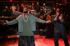 Kanye West performs Bound 2 on Late Night with Jimmy Fallon. Photo / AP
