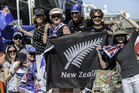 New Zealand fans come out to support their team during day 2 of the America's Cup on September 08, 2013 in San Francisco. Photo / Getty Images.