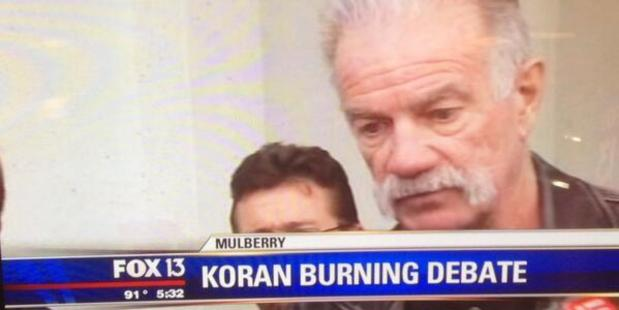 An image from Fox News shows Pastor Terry Jones. He was pulled over by police, allegedly carrying copies of the Koran to burn on September 11.
