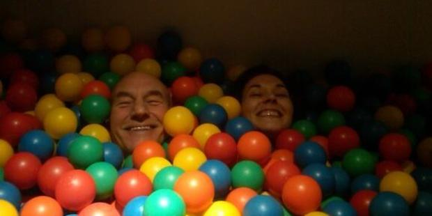 Patrick Stewart with his new wife, Sunny Ozell. Photo / Twitter