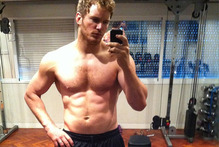 Actor Chris Pratt snaps a gym selfie. Photo / Instagram