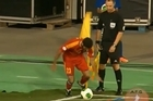The fall guy: Watch Armenia star Ozbiliz take probably the worst corner of all time. Video / Youtube: Soviet football