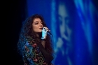 Lorde performs at Vector Arena for the launch of iHeart Radio NZ. Photo / Chris Loufte
