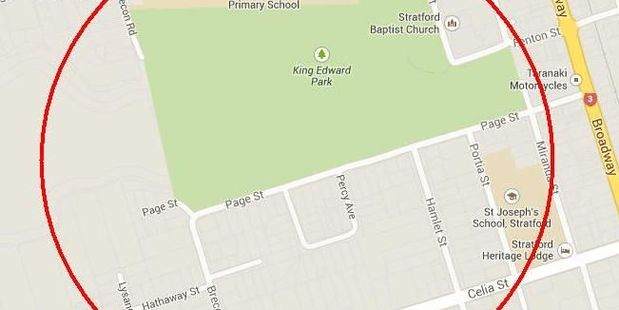 A map of the area where the mans body was found.