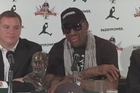 Days after returning from his second trip to visit Kim Jong Un, in which he said he became the first foreigner to hold the leader's newborn daughter, Dennis Rodman announced plans to stage two exhibition games in North Korea in January 2014.