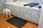 You can paint your mat to suit the bathroom colour scheme. Photo / Michael Craig