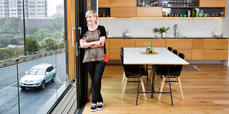 Architect Sophie Wylie photographed in her apartment. Photo / Babiche Martens