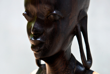 Masai womans bust. Photo / Babiche Martens.