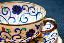 Hand-painted fine porcelain tea set. Photo / Babiche Martens