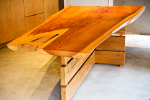 Redwood table. Photo / Babiche Martens.