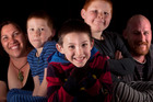 Crimp family. Kushla, Angus, 5, Elliott, 4, Ian, 7, James, 6. Photo / Ben Fraser