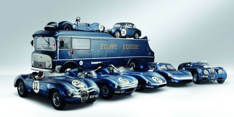 A collection of classic racers from Ecurie Ecosse - the Scottish race team that won Le Mans in 1956 and 1957 is up for auction. Photo / Supplied