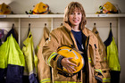 Firefighter Theresa Nesbit at Manly Fire Station. Photo / Greg Bowker