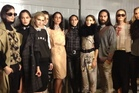 Backstage after the Salasai presentation at NZ Fashion Week. Photo / Zoe Walker