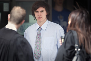 Tristan Barker outside court earlier this month.