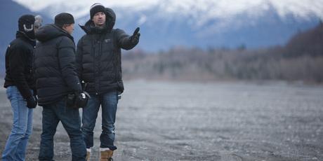 Scott Walker on set of his debut film, 'The Frozen Ground'.